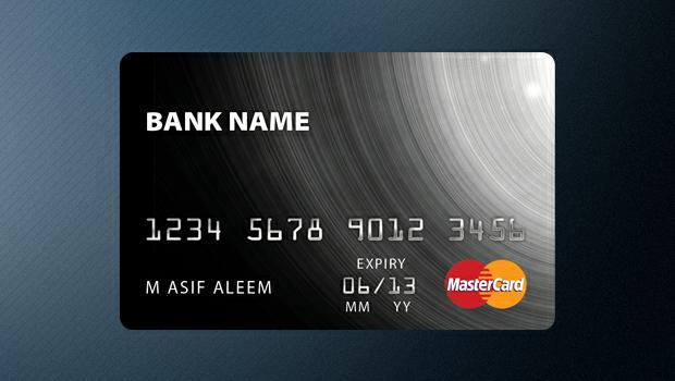 [PSD]万事达黑卡 | 银行卡 模板插图-泛设计
