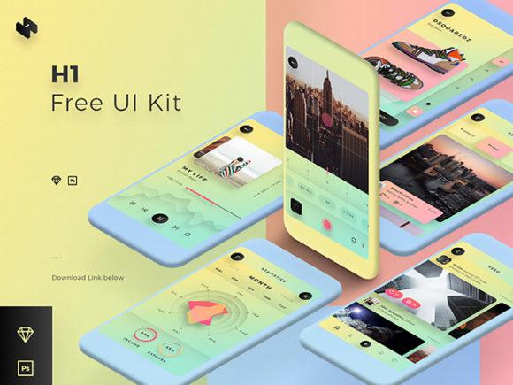 [UI]一个多彩移动设备界面UI套件插图-泛设计