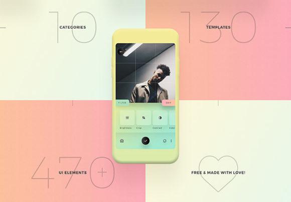 [UI]一个多彩移动设备界面UI套件插图1-泛设计