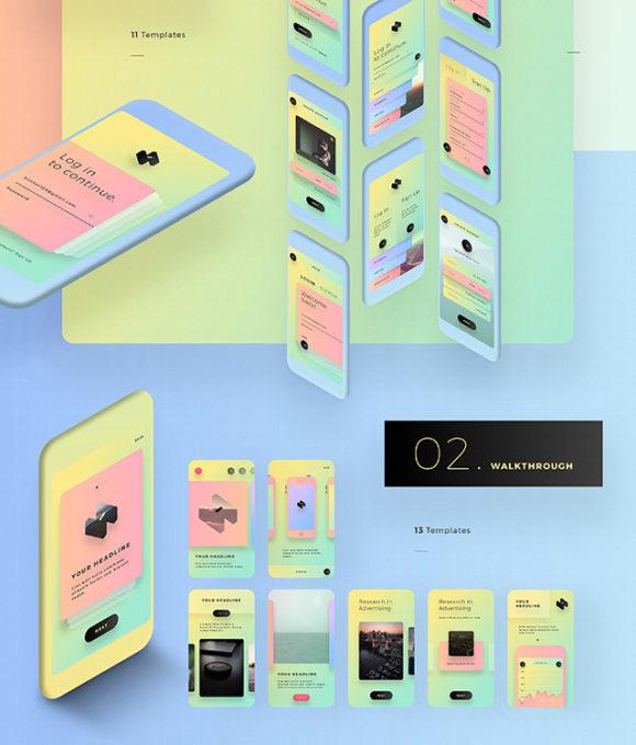 [UI]一个多彩移动设备界面UI套件插图2-泛设计
