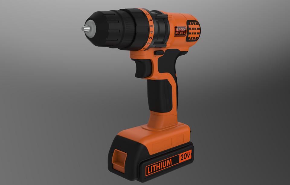 [模型]锂电池手钻模型 | 手电钻 | 手电钻CAD模型 | 工业产品插图-泛设计