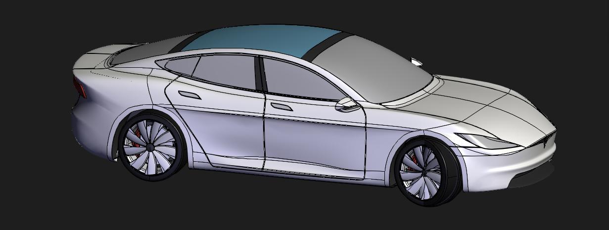 [3D]特斯拉概念设计 | 特斯拉概念车 | 特斯拉概念车模型插图2-泛设计
