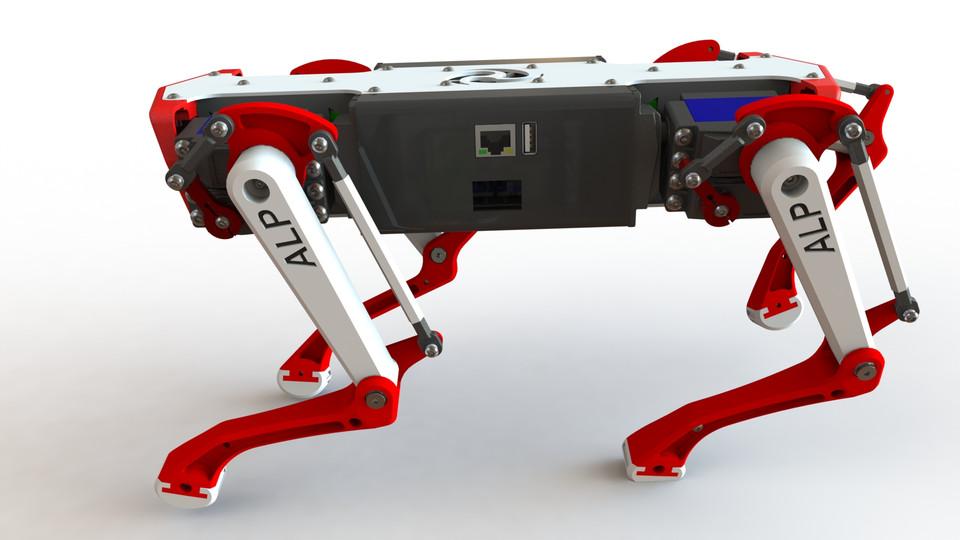[3D]机器狗模型   阿尔法机器狗  插图-泛设计