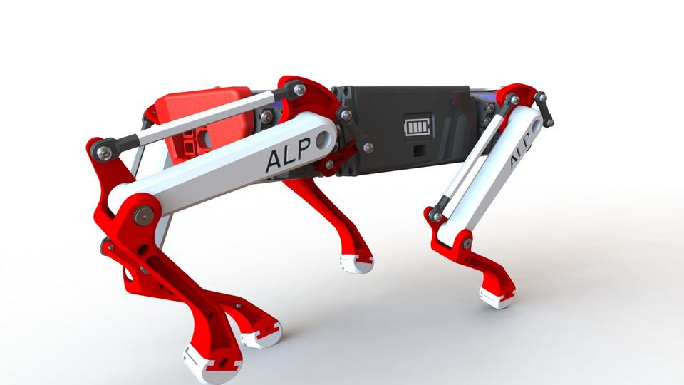[3D]机器狗模型   阿尔法机器狗  插图2-泛设计