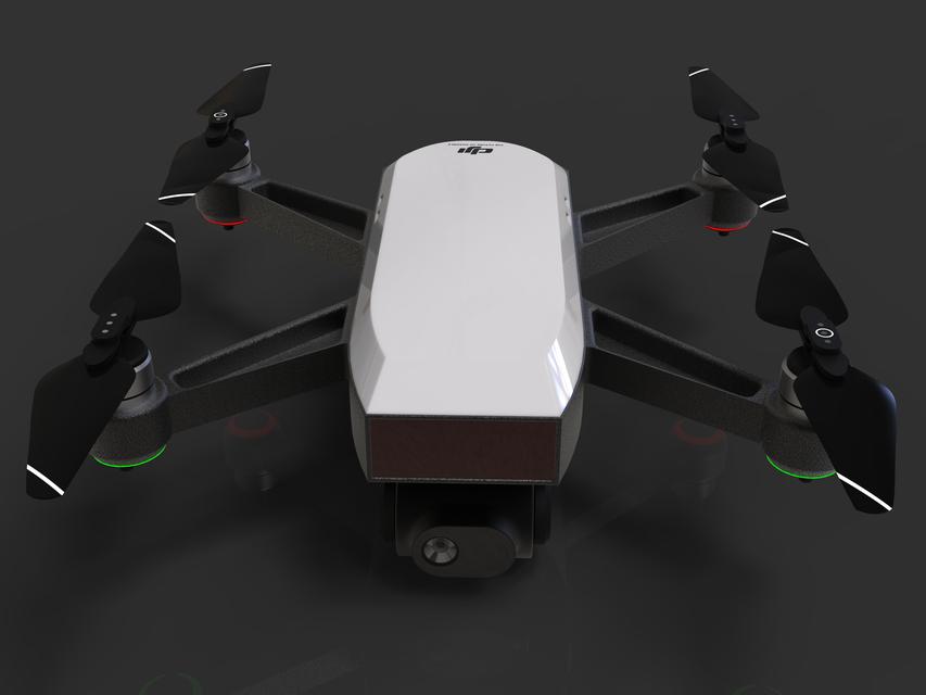 [3D]大疆无人机2模型   dji drone 2   无人机模型   无人机设计插图2-泛设计