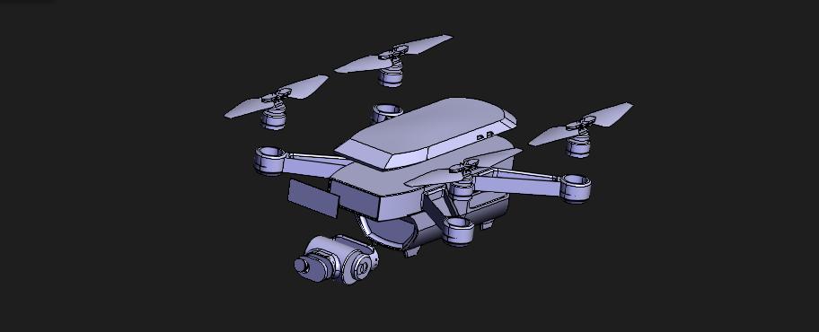 [3D]大疆无人机2模型   dji drone 2   无人机模型   无人机设计插图3-泛设计