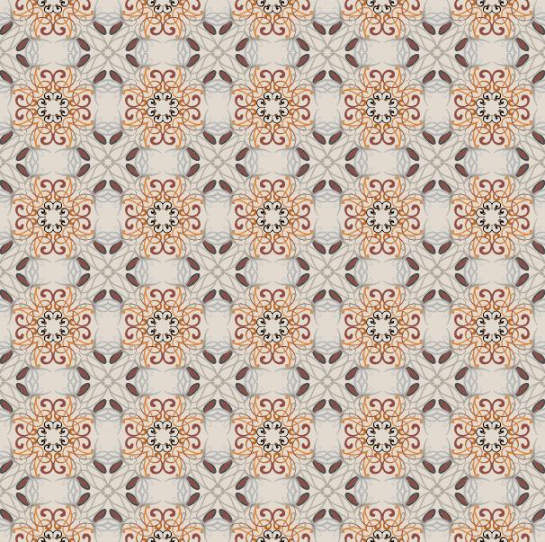 [矢量]6款淡雅漩涡花纹样式   花纹   AI格式插图3-泛设计