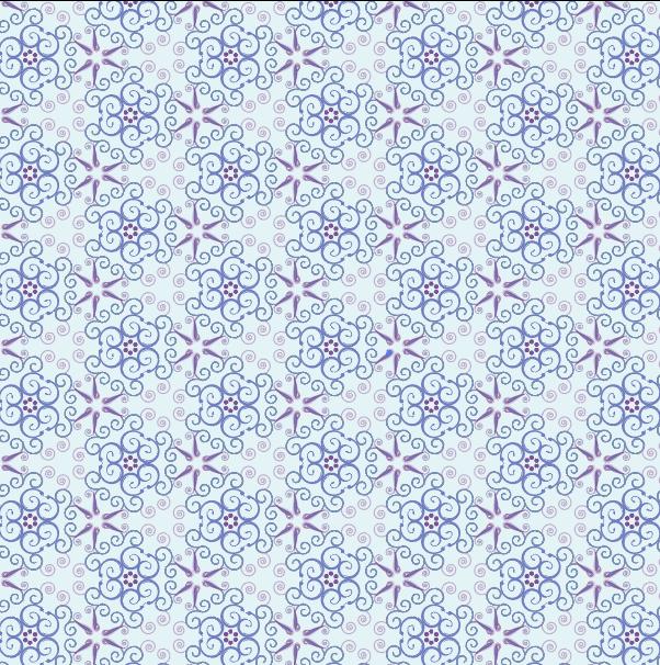[矢量]6款淡雅漩涡花纹样式   花纹   AI格式插图1-泛设计