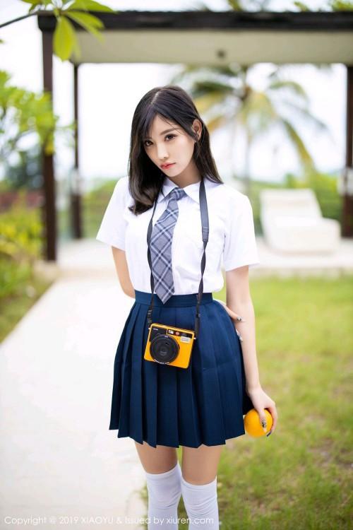 纯情玉女杨晨晨学生制服白丝美腿大胆顶级欧美艺术图片-美眉图吧