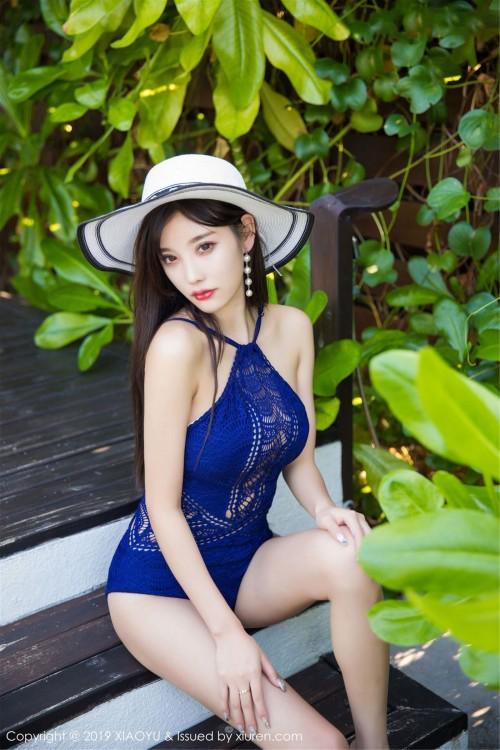 绝色美人杨晨晨比基尼泳衣深沟美乳雪白肥臀优优人体艺术照