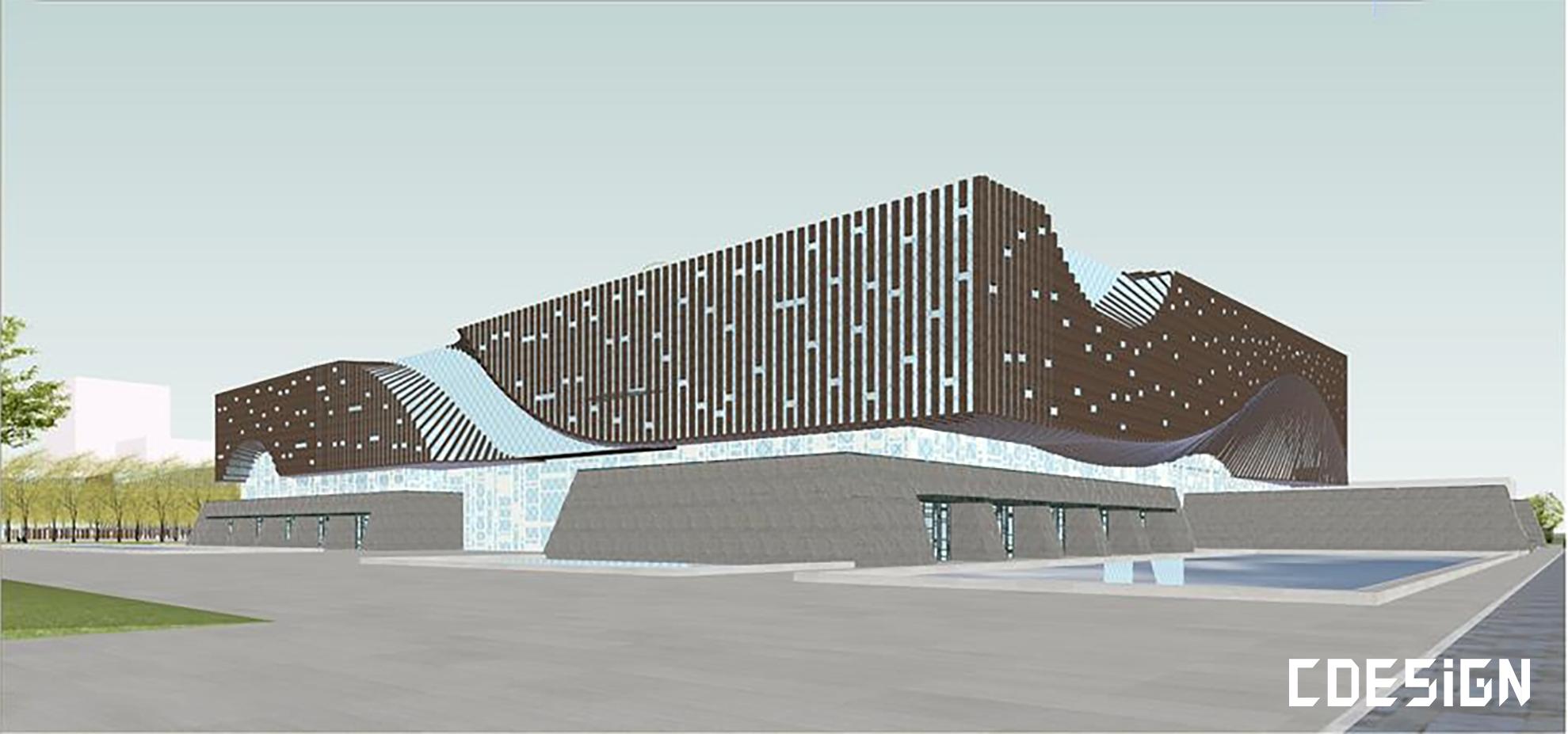 [SU]文化中心建筑设计方案su模型   建筑设计方案插图-泛设计