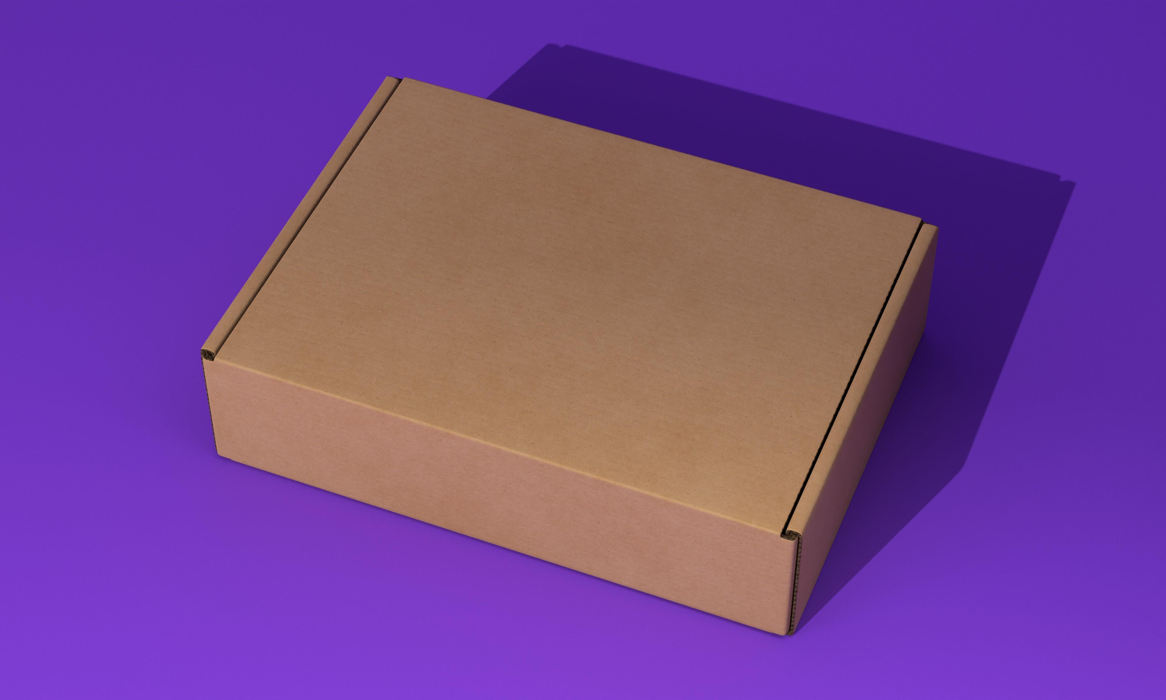 电商快递纸盒子模型样机   CDesign
