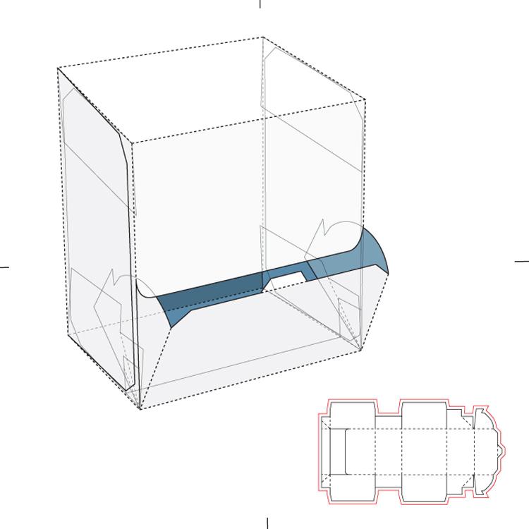 包装盒盒型刀版刀模eps矢量图