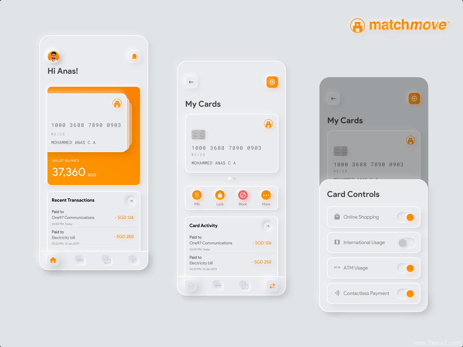 [UI Kit]新拟物轻质感Neumorphic风格金融app ui素材设计 | 源文件 .sketch下载插图-泛设计