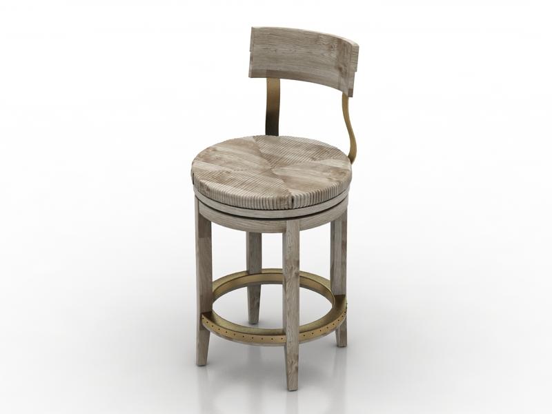 [3D]北欧简约风格椅子3D模型下载插图-泛设计