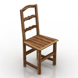 [3D]中式古典实木家用椅子3D模型插图-泛设计