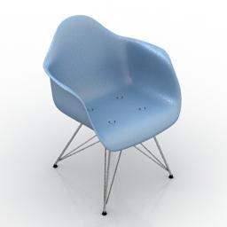 [3D]北欧伊姆斯扶手简约实木创意时尚休闲椅子3D模型插图-泛设计