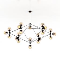 [3D]工业风格北欧网红客厅吊灯3D模型插图-泛设计