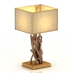 [3D]北欧简约风创意台灯3D模型插图-泛设计