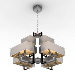 [3D]欧美简约风现代吊灯3D模型插图-泛设计